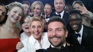 Selfie de Ellen DeGeneres como parte de una campaña de marketing de Samsung. Foto: Twitter